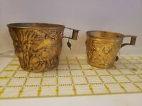 Greek Margo Cup Hand Made Brass Repousse Lead Tag Bull Design