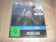 Hobbit Smaugs Einöde Blu-Ray Limitierte 2-Disc Steelbook Edition NEU + Dig. Copy