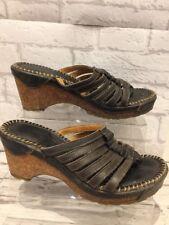 Superbe Femme'S ART Brown Wedge Sandales Taille UK 5 EU38