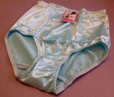 Women Panties,Briefs,Control Panties Ann Diane Size XL SeaBlue Satin W/2 Pockets