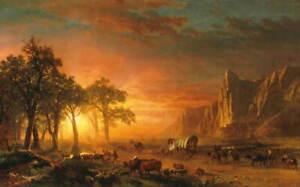 Albert Bierstadt Emigrants Crossing the Plains Poster Giclee Canvas Print