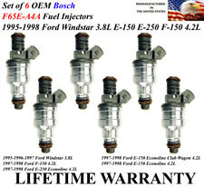 6 OEM Bosch Fuel Injectors For 97-98 Ford F-150 & E-150 Econoline Club Wagon 4.2