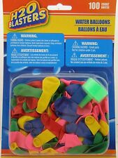 H20 Blasters 100 Water Balloons with Nozzle Tap Filler Attachment Make Balloon