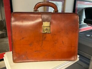 Vintage Leather Pendragon Briefcase - doctor solicitor judge  large cowhide