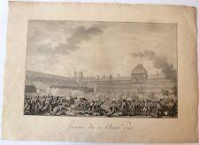 """Eau-forte, Ecole française du 18e siècle, """"Journée du 10 août 1792 """""""