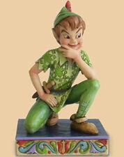 New Jim Shore Disney Figurine Peter Pan Statue Quilted Folk Art Sculpture