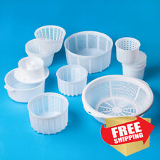Set of 13 Assorted Molds for Cheesemaking | Universal Soft/Hard cheese molds