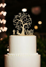 Rustic Cherry Wood Mr Mrs Silhouette Wedding Cake Topper Dancing Cake Topper