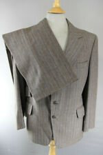 """BESPOKE TAILORED 3 POCKET VINTAGE 1970's BROWN STRIPED SUIT: CHEST 40""""/WAIST 38"""""""