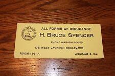 Vintage Ink Blotter.Hartford Insurance / H. Bruce Spencer. Chicago,Illinois