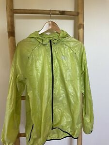 HELLY HANSEN Large Shell Lime Green Spray/Rain jacket. Very Good Condition
