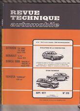 VINTAGE Revue technique automobile N°370 Septembre 1977 TOYOTA COROLLA