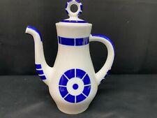 "Sargadelos ""COROA""  Cobalt Blue & White Porcelain ~ Teapot ~ 10 1/2"" Tall w/Lid"