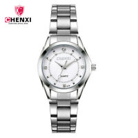 CHENXI Women Watch Fashion Gifts Rhinestone Quartz Female Steel Strap Wristwatch
