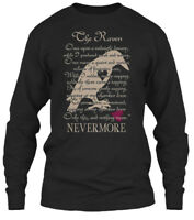 Edgar Allan Poe The Raven - Once Upon A Midnight Gildan Long Sleeve Tee T-Shirt