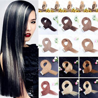 8A 20pc Skin Weft PU Tape in 100% Remy Human Hair Extensions 16-26Inch