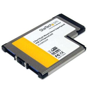 StarTech.com ECUSB3S254F StarTech IO Card 2-Port Flush Mount ExpressCard USB3.0