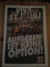 Programm FC St.Pauli - FC Erzgebirge Aue 14/15