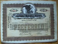 Alexander Hamilton Institute stock certificate dated 1928