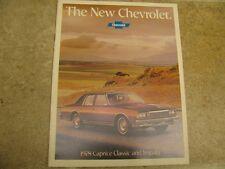 1978 Chevy Caprice Classic Impala Sales Brochure 78