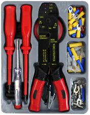 81pc Kit de herramientas electricistas Destornilladores Probador Prensar Corte herramienta peladora