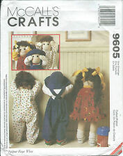 "M 9605 sewing pattern 25"" hide seek DOLL CLOTHES sew Jumper Panties Overalls Hat"