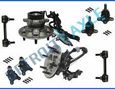New 8pc Front Wheel Hub & Bearing Suspension Kit w/ ABS for Colorado 2WD -No Z71
