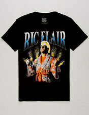 "WWE OFFICIAL RIC FLAIR ""THE NATURE BOY"" PYRO BLACK LIMITED EDITION T-SHIRT NWT"