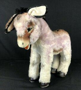 """Steiff Donkey Grissy Large Stuffed Animal Vintage 16"""" Long 14"""" High"""