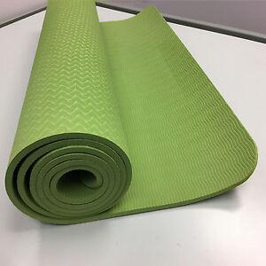 Pilate Gymnastics exercise Yoga Mat TPE Durable Non-Slip 1/4 inch (6mm)