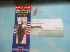 Double X Tackle Pot O Gold Spoon 1/2 Oz Hammered Nickel Spoon Brand New!