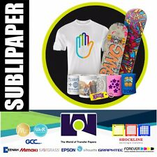 """200 Sheets 8.5x11"""" Dye Sublimation Heat Transfer Paper for Polymeric Pretreated"""