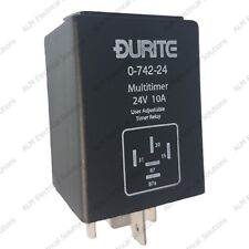 Réglable minuterie programmable relais-Delay on/off - 24 V 10 A-Durite - 0-742-24