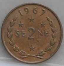 SAMOA - 2 Sene 1967 - KM# 2