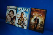 dvd-3 peliculas Ingles IAM A LEGEND-ICE AGE-STEP BROTHERS-para aprender ingles
