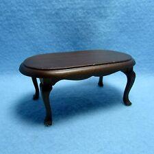 Dollhouse Miniature Living Room Coffee Table in Walnut ~ CLA06848