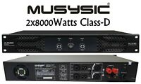 MUSYSIC Professional 2-Channel 2x8000 Watts PMPO D-Class Power Amplifier MU-D16K
