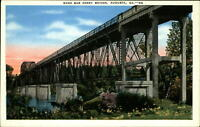 Sand Bar Ferry Bridge Augusta Georgia ~ 1930s vintage linen postcard