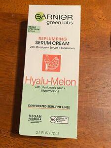 Garnier Green Labs Hyalu Melon Replumping Serum Cream Dehydrated Skin New 72ml