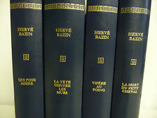 4 Livres HERVE BAZIN par Pierre De Tartas éditions ROMBALDI