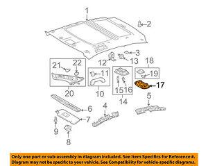 Scion TOYOTA OEM 05-10 tC Interior-Roof-Cargo Lamp 8124068010B0