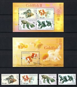 China Hong Kong 2005 Gold Fish stamps set