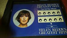 Helen Reddy Greatest Hits Midnight Special Rare Original Promo Poster Ad Framed!