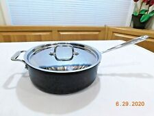 ALL CLAD METALCRAFTERS 4 QT SAUTE PAN SKILLET NONSTICK INDUCTION USA