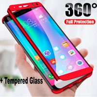 360° Full Cover Case + Tempered Glass For Huawei P20 P30 P10 P9 Lite Mate 20 Pro