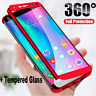 Ultra Thin 360 Full Body Hard Case +Tempered Glass For Samsung Galaxy Note 3 4 5