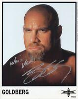 WWE SIGNED PHOTO GOLDBERG WCW PROMO COA & PROOF