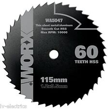 METAL CUTTING DISC BLADE WORX WX427 XL CIRCULAR SAW WA5047 115MM 60T HSS