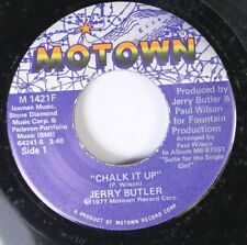 Soul 45 Jerry Butler - Chalk It Up / I Don'T Want Nobody To Know On Motown 3