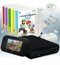 Wii U Konsole 32 GB schwarz + Mario Kart Wii + 5 Gratisspiele + 2 Remotes + 2 Le
